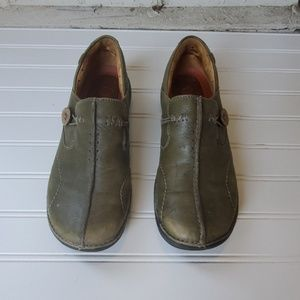 Green Leather Unstructured Clark's 7M